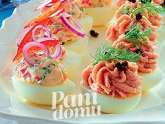 Appetizer Recipes, Appetizers, Polish Easter, Canapes, Cooking Recipes, Eggs, Yummy Food, Ethnic Recipes, Party