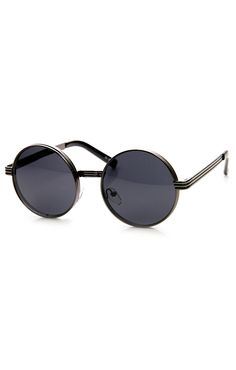 cca86c98b4 RETRO FASHION BOLD STEAMPUNK METAL ROUND SUNGLASSE
