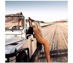 This has to be a Jeep, right? Landrover Defender, Land Rover Defender 110, Trucks And Girls, Car Girls, Girl Car, Hot Inked Girls, Off Road Adventure, American Motors, Nude Photography