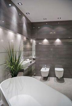 Tradycyjna łazienka czy salon kąpielowy? Best Bathroom Designs, Bathroom Design Luxury, Modern Bedroom Design, Modern Kitchen Design, Arch Interior, Interior Exterior, Bathroom Styling, Amazing Bathrooms, House