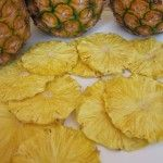 Pineapple Candy Chips ~ Dehydrating concentrates the natural sugars and makes these as sweet as candy.