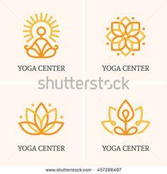 Four yoga logo - buy this vector graphic and find your .- Four yoga logo – kaufen Sie diese Vektorgrafik und finden Sie ähnliche Vektor… Four yoga logo – Buy this vector graphic and find similar vector images on Adobe Stock Yoga Logo, Cl Design, Graphic Design, Spiritual Logo, Lotus Logo, Sun Logo, Yoga Posen, Studio Logo, Yoga Art