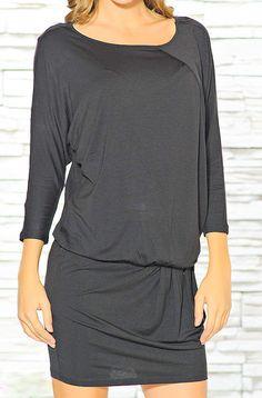 long tunic  dress with long sleeves draping at by NewstyleNataly, $55.00