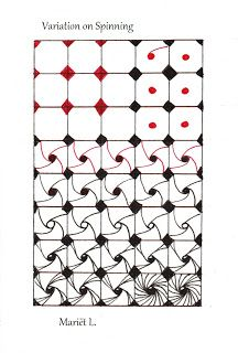 Studio ML: Variation on tangle 'Spinning' by Mariet
