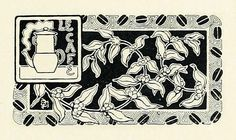Le Cafe    From Les Menus & Programmes Illustrés - Invitations - Billets de Faire-Part - Cartes d'Adresses - Petites Estampes du XVIIème Siècle jusqu'à nos jours.    By Léon Maillard. Published 1898 by G. Boudet, Paris.