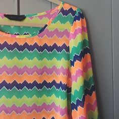 Modcloth summer top☀️ This cool top will brighten anyone's day! ☀️Hangs beautifully. Sheer/ 3/4 sleeves. Like new. Peaches and cream by Modcloth. ModCloth Tops Blouses