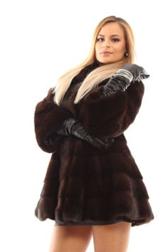 NEW SABLE COLOR ROYAL MINK FUR COAT CLASS SABLE CHINCHILLA FOX JACKET sz 38 in Clothing, Shoes & Accessories, Women's Clothing, Coats & Jackets | eBay