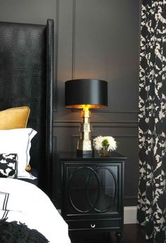 Black bedroom, via Zsa Zsa Bellagio