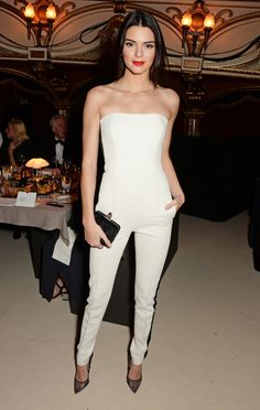 Kendall Jenner's red lip + all-white outfit