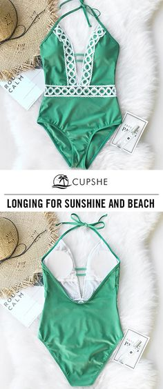 Treat Yourself to Something Special. Cupshe can give you best of the best. One-piece design, lace stitching and soft fabric. Wears hot and comfortable. Enjoy FREE shipping~ SHOP NOW.