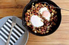 This farmer's breakfast skillet recipe is the perfect meal any time of the day. Take a few minutes and make this hearty meal in one skillet!