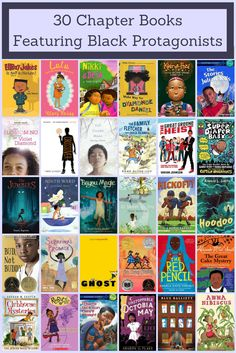30 Chapter Books and Middle Grade Titles Featuring Black Protagonists Different Types Of Books, Realistic Fiction, Black Characters, Chapter Books, Book Lists, Reading Lists, Historical Fiction, Read Aloud, Biographies