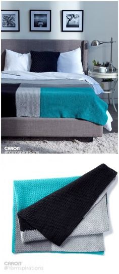 I have rounded up some of the best and interesting free crochet Blanket patterns for your home!Caron Modern Log Cabin Crochet Blanket