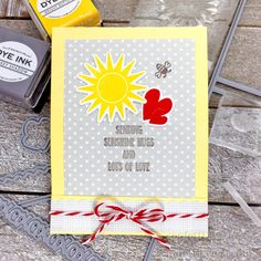 Sending Sunshine Hugs Card by Lexi Daly for Papertrey Ink (December 2017)