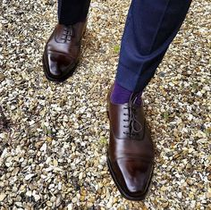Hallam, an oxford shoe with a straight toe cap, our most popular style from the Men's Main Collection. Made from the finest calf leather or suede and single leather soles.