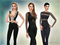 The Sims Resource: Spring Jumpsuits Set by Ernhn • Sims 4 Downloads