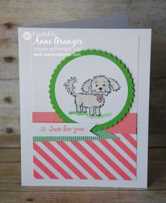 Just for you card using the Stampin'Up! Bella and friends stamp set