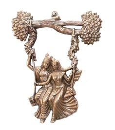Radha Krishna Jhula Wall Hanging 13 Inch Home Decor Temple Ornament Gifts Friend Krishna Statue, Lord Krishna, Shree Krishna, India Home Decor, Anniversary Gifts For Couples, Best Wedding Gifts, Wedding Frames, Wedding Ideas, Gifts For Friends