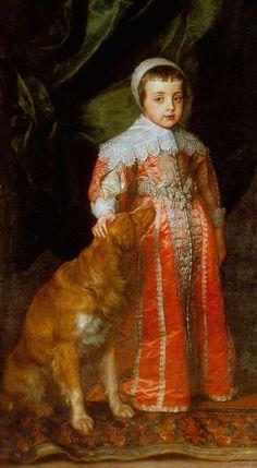 Sir Anthony van Dyck, The Three Eldest Children of Charles I.) (detail) Antonis van Dyck (Antwerpen 1599 - London 1641) (1637) Galleria Sabauda, Torino