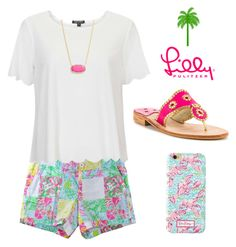 lilly lovin by clairepearl on Polyvore featuring polyvore, fashion, style, Topshop, Lilly Pulitzer, Jack Rogers, Kendra Scott, women's clothing, women's fashion, women, female, woman, misses and juniors