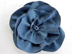 DIY Denim Flower, Rose Style