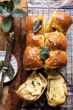 Pull Apart Parmesan Sage Butter Brioche Rolls...served warm out of the oven with a smear of butter and a sprinkle of sea salt...delicious!