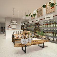 Supermarket Design, Retail Store Design, Organic Food Shop, Tienda Natural, Bulk Store, Herbal Store, Kiosk Design, Food Retail, Retail Merchandising