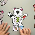 This cute Build a Bear Number Match printable will help your kids build a strong number sense! The printable PDF includes 10 pages of 20 x 5 number bear pieces. This product can also be purchased as part of the Number Match Bundle