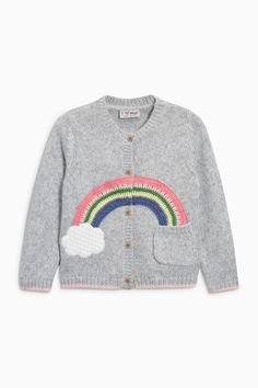 Buy Grey Rainbow Cardigan (3mths-6yrs) from the Next UK online shop