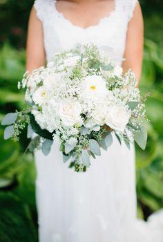 Dahlia, rose and seeded eucalyptus wedding bouquet: Photography - Assistance: Mugan Films - vimeo.com/muganfilms Photography: Kristina Lorraine Photography - kristinalorraine.com   Read More on SMP: http://www.stylemepretty.com/2016/10/03//