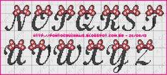 Alfabeto em Ponto Cruz: Gráfico - Artesanato Passo a Passo! Cross Stitch Letter Patterns, Cross Stitch Letters, Cross Stitch Love, Stitch Patterns, Alfabeto Disney, Knitted Jackets Women, Disney Letters, Crochet Letters, Mini Iron