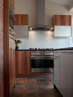 Contemporary Tile Kitchen Backsplash Design, Pictures, Remodel, Decor and Ideas - page 58