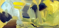 Yellow Depths -- Ivon Hitchens was an English painter who started exhibiting during the 1920s. He became part of the 'London Group' of artists and exhibited with them during the 1930s. His house was bombed in 1940 during World War II, at which point he moved to a caravan on a patch of woodland near Petworth in West Sussex. He is particularly well known for panoramic landscape paintings created from blocks of colour. There is a huge mural by him in the main hall of Cecil Sharp House.