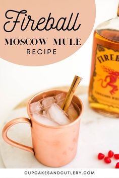 Quick and easy Fireball Moscow Mule. This delicious cocktail recipe uses cinnamon whisky to add a little bit of spice and a whole lot of flavor!