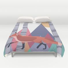 Fox stroll Duvet Cover by minettewasserman Duvet Covers, Toddler Bed, Fox, Shirts, Furniture, Home Decor, Child Bed, Decoration Home, Room Decor