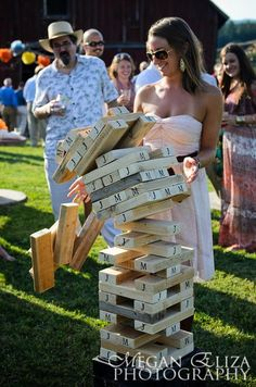giant jenga. good outside game to keep people occupied. my dad can build:D