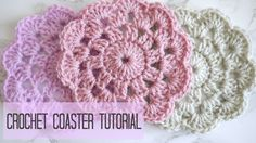 A tutorial of how to crochet a coaster. Ideal for home decor and gifts. Pattern written in UK terms with US reference. PDF PATTERN AVAILABLE AT: http://etsy....