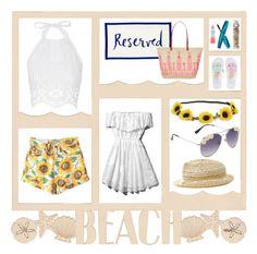 """""""BEACH DAY"""" by annieanne-tumblr13 ❤ liked on Polyvore featuring Miguelina, Abercrombie & Fitch, Aéropostale, Kate Spade, Monsoon and Rimmel"""