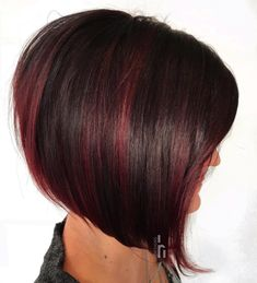 Copper Layered Bob with Bangs - 50 Classy Short Bob Haircuts and Hairstyles with Bangs - The Trending Hairstyle Stacked Bob Hairstyles, Short Hairstyles For Thick Hair, Short Bob Haircuts, Short Hair Cuts, Curly Hair Styles, Natural Hair Styles, Hairstyle Short, Pixie Hairstyles, Blonde Pixie Hair