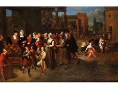 DIE SIEBEN WERKE DER BARMHERZIGKEIT Öl auf Leinwand. Doubliert. 99 x 152 cm. Gerahmt. (1000555) (12) Frans Francken the Younger, 1581 - 1642, circle of THE...