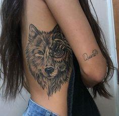 wolf back tattoos for women - wolf back tattoo wolf back tattoo women wolf back tattoos for guys wolf back tattoos for women wolf back tattoo design Wolf Tattoos For Women, Back Tattoo Women, Tattoo Girls, Tattoos For Women Small, Side Tattoos Women, Tattoos For Females, Female Back Tattoos, Wolf Girl Tattoos, Piercing Tattoo