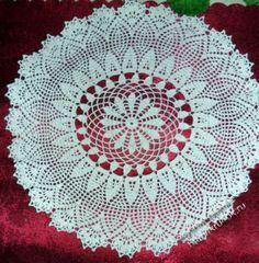 Openwork crochet centrino & # 8212; lavorare Albina Petrovna. Crochet.