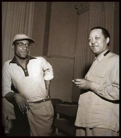 Max Roach and Lester Young