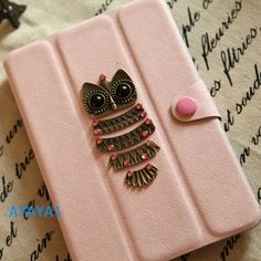 iPad mini Case, iPad mini Cover ,iPad,pink case with lovely owl,mini ipad case,case for mini ipad Personalized Covers on Etsy, $28.99