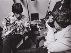 "moonlightxmile: "" Keith and Mick backstage, September 12, 1965. """