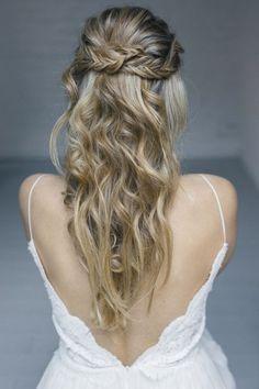 Brautfrisuren fur langes lockiges haar