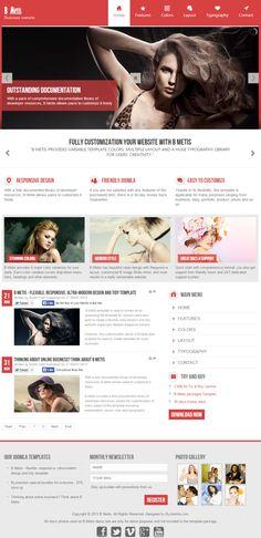 B Metis Responsive Joomla template by ByJoomla Themes-Templates on Creative Market