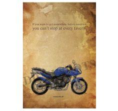 Yamaha FZ6B. If you want to get somewhere.... by drawspots on Etsy #motorcycle #art #gift #giftforhim #gift #birthday #valentine #valentinesday #drawing