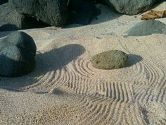 "Making a ""Zen rock garden"" at Waimea :p Zen Rock Garden"