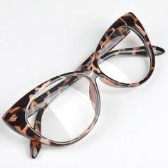 Glasses Retro Fashion Black Women Glasses Frame Clear Lens Eyewear